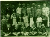 Wilburton school children at the old school in the High Street