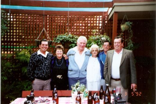 Visiting Luckett family from Australia.