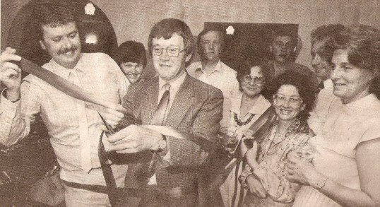 Opening of the  Wilburton         village social club