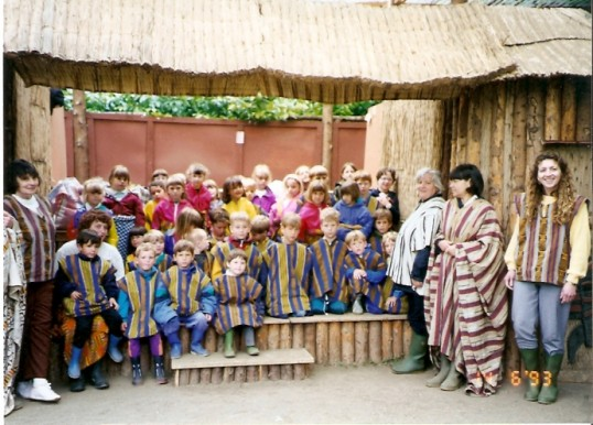Wilburton school children on a  day at an african educational  centre 14 06 1993