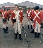 Mervyn Day (of Wilburton) as an extra filming in Kings Lynn