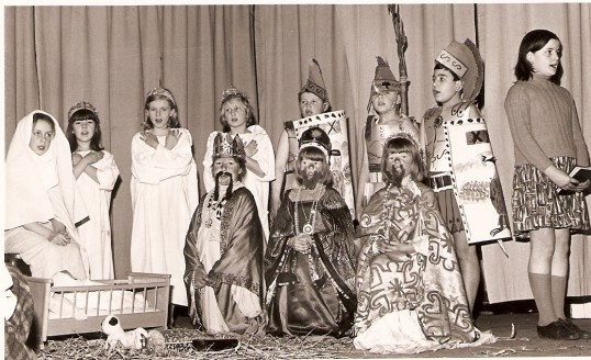 Wilburton school children in a Christmas pageant