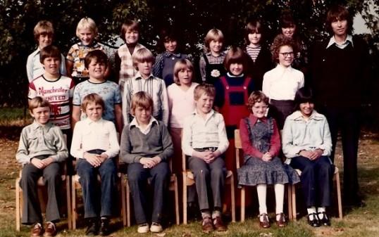 A class of children at Wilburton school