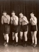 Gordon (Pop) Day with other boxers at Ely club.