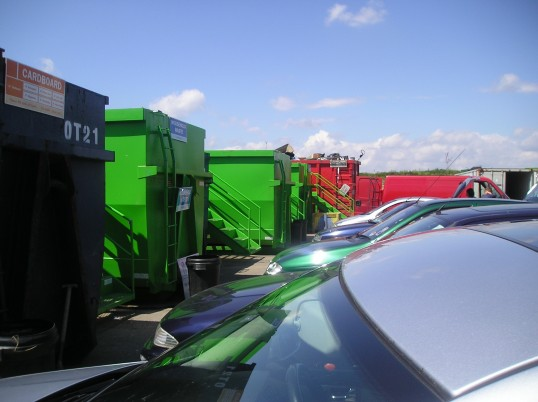 The recycling centre in Poole Road, Wilburton