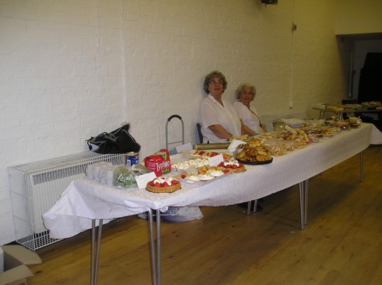 Cake stall at Wilburton St Peter's Club Coffee morning