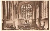 A post card of the inside of Wilburton church.