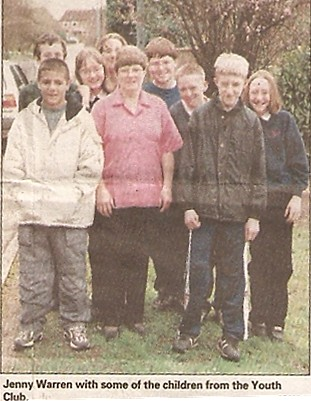Jenny Warren with a group from the youth club