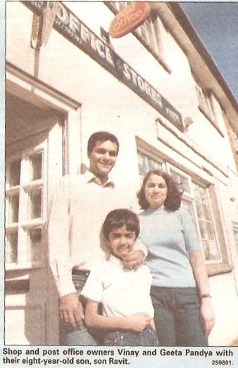 Vinay, Geeta & Ravit Pandya owners of Wilburton village shop & post office