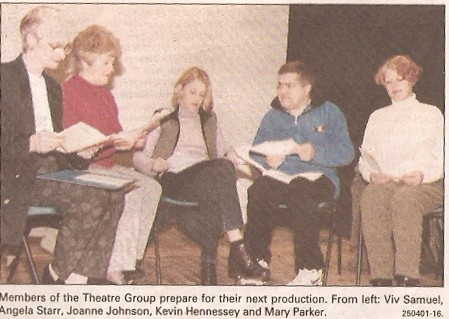 Members of the theatre group prepare for  the next production