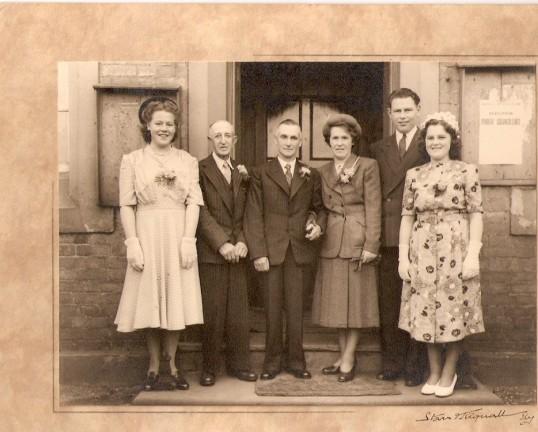 The  Wedding of Mrs May Day & Mr Ernie Edgley at Wilburton chapel