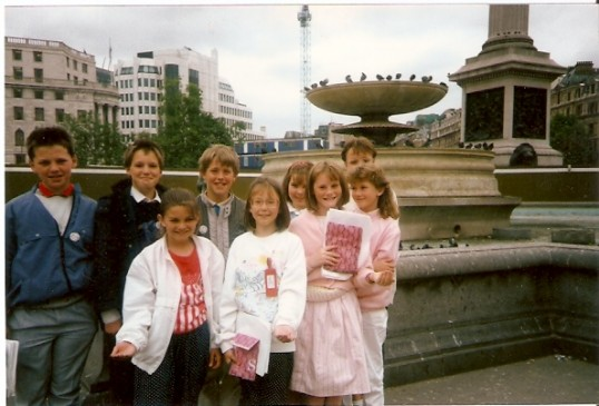 Wilburton school children in Trafalger Square