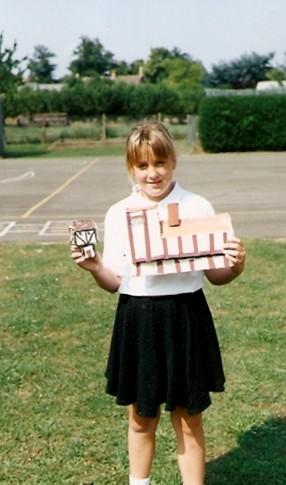 Leanne Murfett  showing her work at Wilburton School