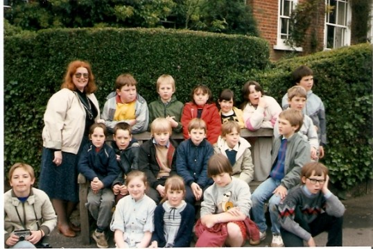 Group of Wilburton School children on a day out