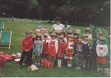 Wilburton  School Children on a sports day