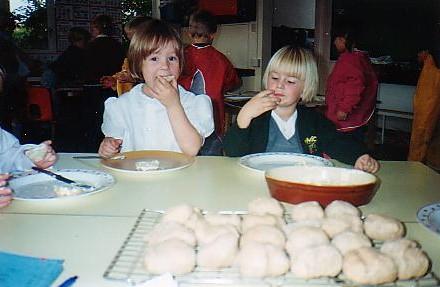 Wilburton Shool Children enjoying  their food