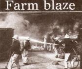 Mr Layton's Farm on fire Wilburton