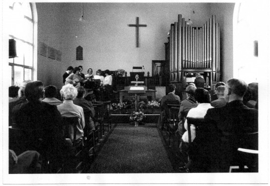 Another view inside  the Baptist Church