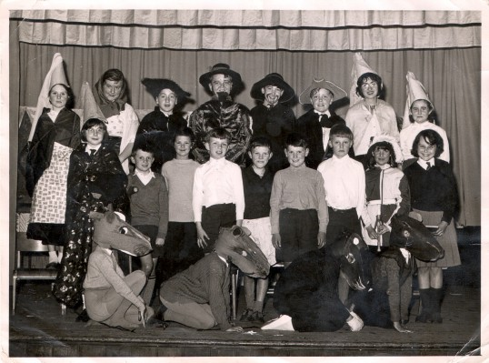 Wilburton School Children acting in a play. 1958-64