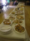 The tea table at St Peter's Over Sixties Club for their summer tea