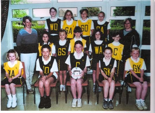 Net ball team at Wilburton School