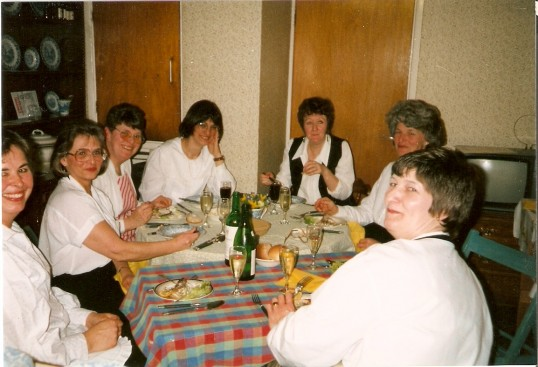 A gathering of the Mother Union Members enjoying a meal