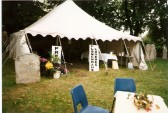 Marquee at the Church Festival serving ploughmans lunches