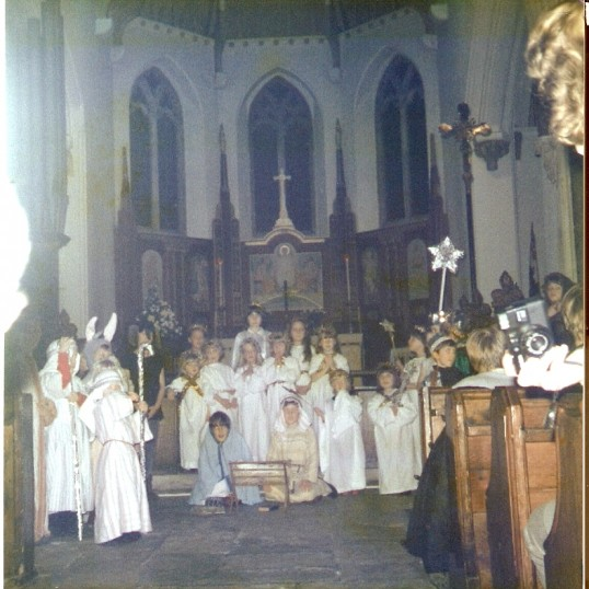 A Christmas group in St Peter's Church, Wilburton