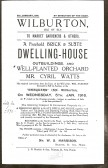 Poster advertising a property for sale in Wilburton