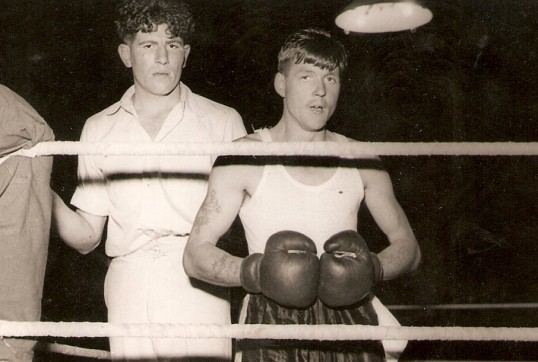 Gordon Day (Pop) training boxers when he was in the army in Egypt