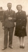 Don Day  and his wife Joan on  Visit to Wilburton on leave from the airforce