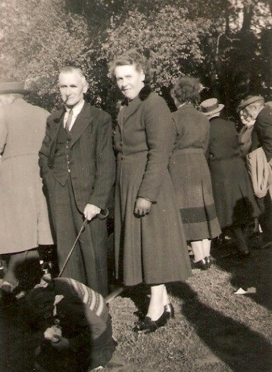 Mr Ernest Edgley and Mrs Edgley at a event being held on Wilburton playing field