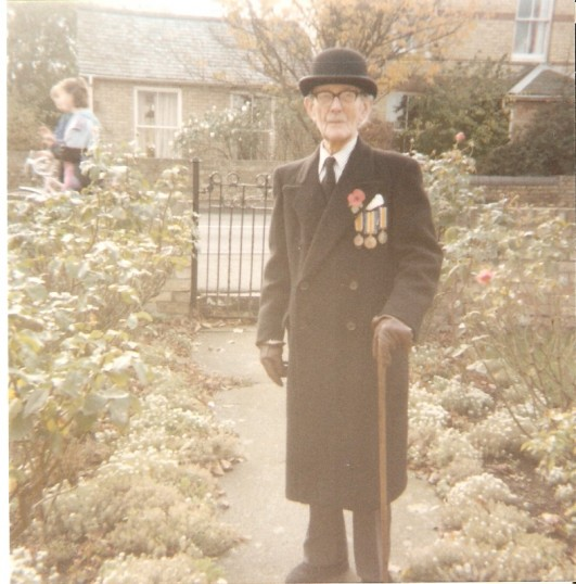 Dr Wolfendale, Senior dressed and ready to attend St Peter's Church, Wilburton, Rememberance Sunday