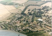Arial  view of Wilburton village and the fenland