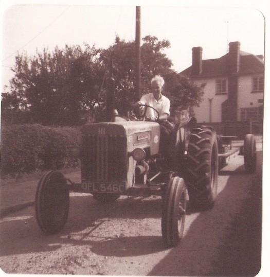 Frank Yarrow driving a tractor