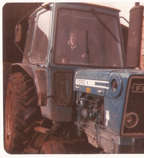 Frank Yarrow driving a Fordson Major tractor