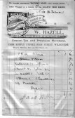A Bill for groceries bought by Miss H Sulman  from the local village shop owned by Mr W Hazel Wilburton