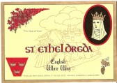 A Wine label from a bottle of wine, the grapes were grown in a vine yard  in twenty pence Wilburton