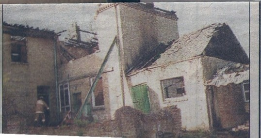 Some of the remains of the fire at The Limes Wilburton showing the damage that the (suspicious) fire did