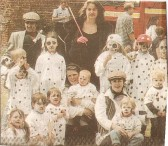 (Dotty Dogs) Youngsters & adults with the Humpties playgroup depicting the famous 101 Dalmations in the Wilburton Feast parade