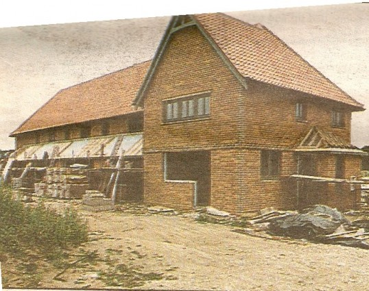 The start of low cost housing in the developement described as for  first time buyers