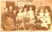 Wilburton school children in the  late1800s