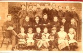 Wilburton school children with  their teacher in the  late1800s