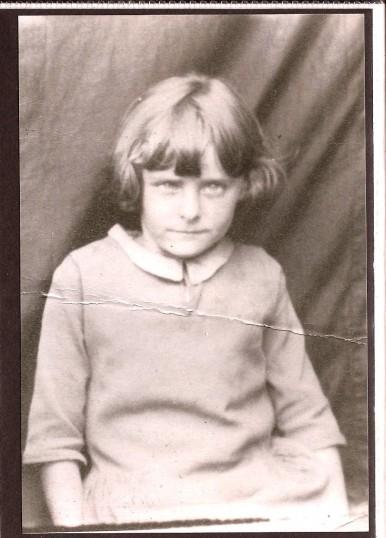 Joan Vessey when she was a school girl
