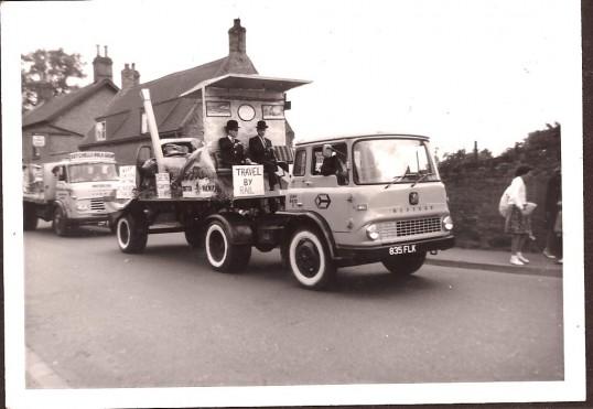 Two lorrys in Wilburton feast parade