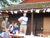 Alan Yarrow giving out prizes to the competion winners at the jubilee party