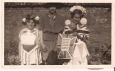Irene Smith, Gladys Smith and Sheila Smith all dressed up for the Kings Coronation at the Wilburton fete