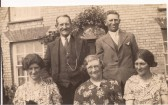 Enid Garrodd nee Denny, Mrs Denny senior, Mabel Smith nee Denny, Harry Denny senior and Harry Denny junior in Berristead Close