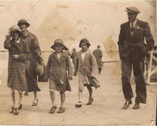 Mr  Bill Smith and family on a day out to Hunstanton