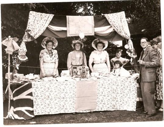 Garden Fete Dorothy Furness, Miss Wolnough, Janie Gothard. John and Stephanie Gothard, Mr Harris, Hilda Lodge